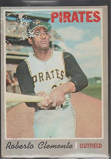 1970 Topps Roberto Clemente Pirates Baseball Card #350
