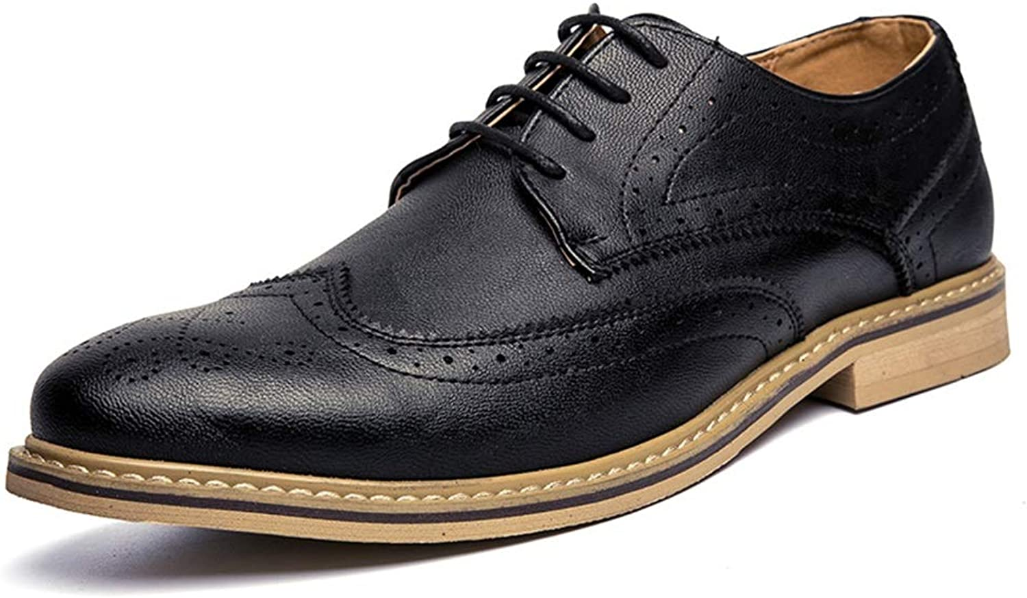 IWGR Men's Fashion Oxford shoes Casual Comfortable Classic Light Classic Carving Brogue Pointed shoes