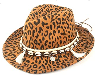Fedora Cap Retro Flat Female Hat Autumn Winter Fedora Hat Wool Polyester Classic Tassel Men's Neutral Jazz Style Felt hat (Color : Yellow, Size : 56-58cm)