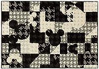 スミノエ ディズニー ラグ ミッキー ジオメトリーサークル 130×190cm ブラック DRM1053