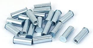 Aexit M6 x Nails, Screws & Fasteners 25mm Zinc Plated Hex Head Clinch Stud Self Clinching Blind Nut & Bolt Sets Standoff 20PCS