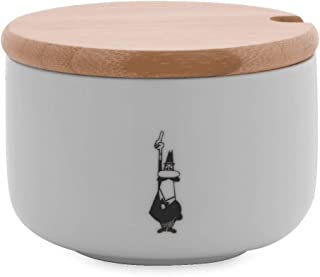 Bialetti Y0TZ102 Sugar Bowl with Bamboo Lid, Porcelain