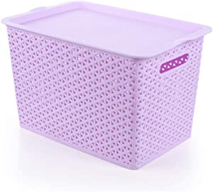 Room Tidy Storage Chest Toy Box For Girls And Boys Perfect For Household Storage  Fabrics Toys  Color Purple  Size Free size