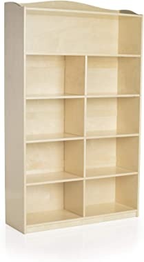 Guidecraft 6-Shelf Bookshelf: Storage Book Rack for Kids' Playroom, School Supply Furniture for Classrooms and Home