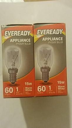 Eveready Small Screw Himalayan Salt lamp Bulb x 3, E14, 15 W