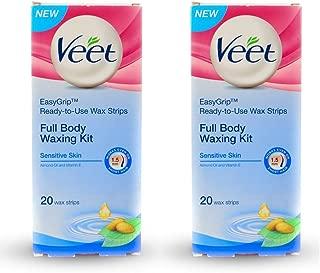Veet Full Body Waxing Kit - Sensitive Skin (Pack of 2)