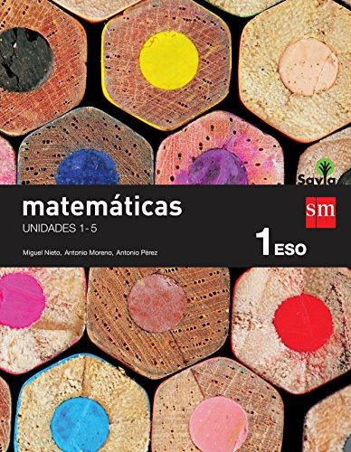 Matemáticas. 1 ESO. Savia. Trimestres - Pack de 3 libros - 9788467582925