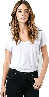 Womens Bare Scoop Neck Short-Sleeve Shirts