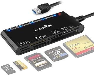 Card Reader USB 3.0, Rocketek 7 in 1 Memory Card Reader, USB 3.0 (5Gps) High Speed CF/SD/TF/XD/MS/Micro SD Card Solt All i...
