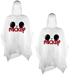 Disney 2-Pack Family Rain Ponchos, Mickey Or Minnie Mouse, Adult & Youth
