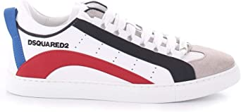 DSQUARED2 - Sneakers low sole bianco rosso #m244 SNM0090 11570001 M244