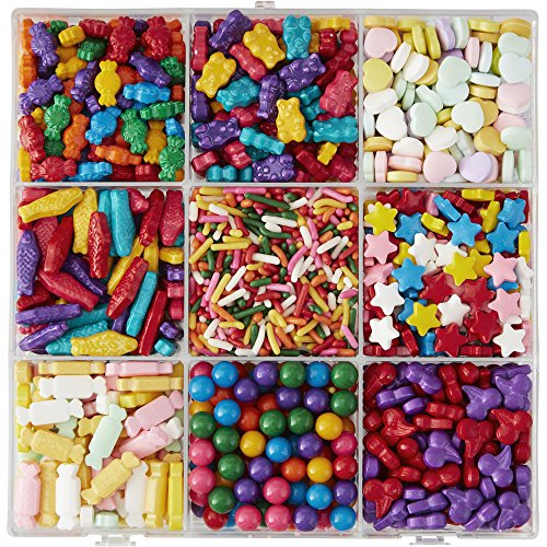 Wilton 710-4050 Dylan's Bar Sprinkles Candy Tackle Box, Assorted