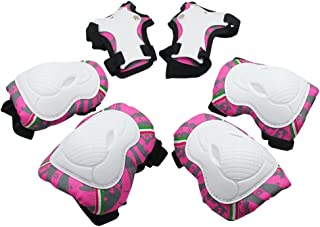comprar comparacion SKL 6 PIEZAS Juego de rodilleras para niños Coderas y Almohadillas de muñeca Conjunto de protección infantil para Patinaje...