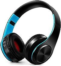 Bluetooth Headset Earphone Wireless Headphones Stereo Foldable Sport Earphone Microphone Headset Handfree Mp3 Player,Black Blue