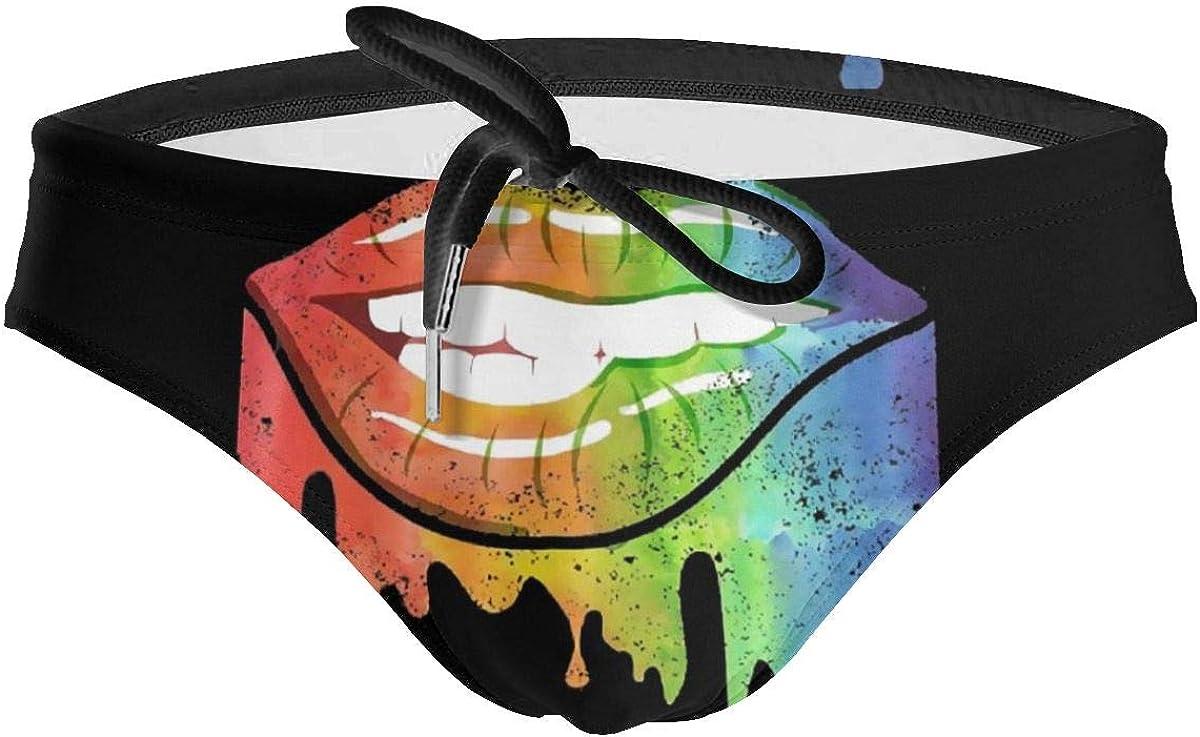 Men Swim Briefs Gay Pride Lips Bikini Swimming Be super welcome Swimwear Denver Mall Rainbow