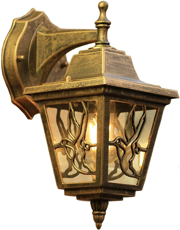 XHJJDJ Wandlampe - wasserdichte Balkonterrassengarten-Wandlampen im Freien, dekorative Beleuchtung der Barcafeo-amerikanischen Korridor-Treppe