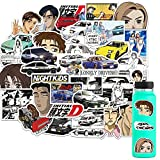 50PCS Initial D Anime Stickers for Hydro Flask Water Bottle Laptop Computer Skateboard MacBook, Cute Sticker Pack, Waterproof Decal (Initial D)