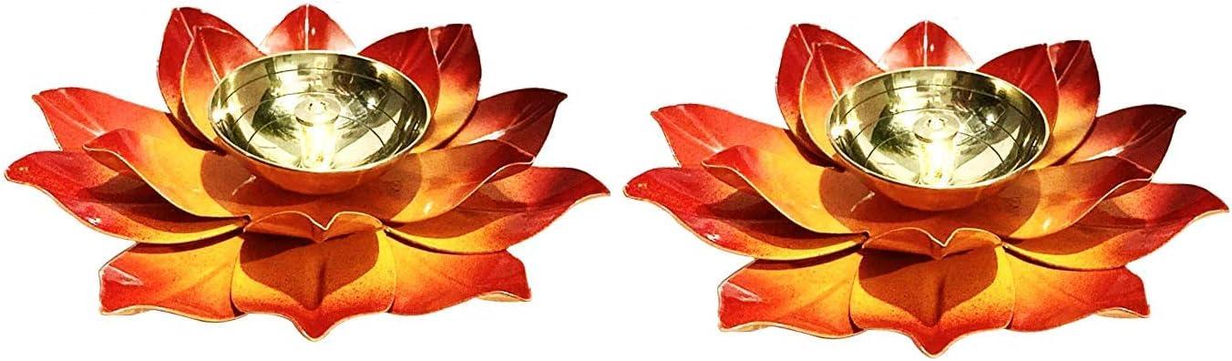 Wgloryind Brass Diya Lotus Kamal Shape Choice Lamp Temple High quality for Home Oil