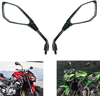 MZS Motorcycle Mirrors Rear View compatible Kawasaki Z900 2017-2018/ ER-6N ER650F 2012-2016/ VERSYS X 250 300 2017-2018/ Z250 Z250SL 2014-2016/ Z650 2017-2018/ Z800 2013-2016