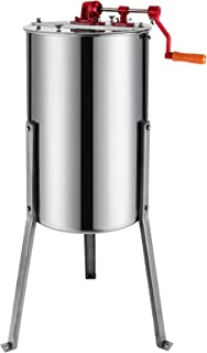 Moracle Extractor de Miel Manual 3 Frame Honey Extractor Extractor de Miel Acero Inoxidable 61cm
