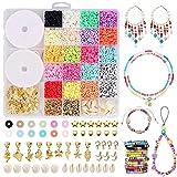 Oryidr Ketten Selber Machen Set Armband Halskette Kit Diy Schmuck Bastelset Polymer Clay Bead Kreativ Geschenk FüR Erwachsene Kinder Bunte Perlen Set