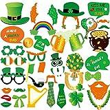 FEPITO 38 Stücke Foto Booth Props zum St. Patrick's Day Dekorationen Irish Day Kreative Lustige...
