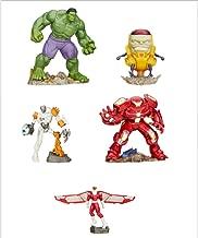 Playmation Disney Marvel Avengers Hero & Villian Smart Figure Set: Hulk, Ultron Bot, Hulkbuster, Marvel's Falcon, & M.O.D.O.K