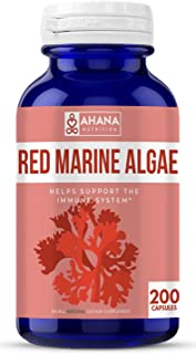 Ahana Nutrition Red Marine Algae Capsules – Natural Antioxidant Supplement for Aiding Blood Circulation and Immune System ...