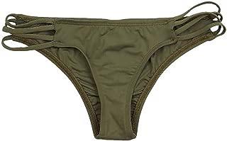 ToBeInStyle Women's Strappy Criss-Cross Cheeky Bikini Bottom