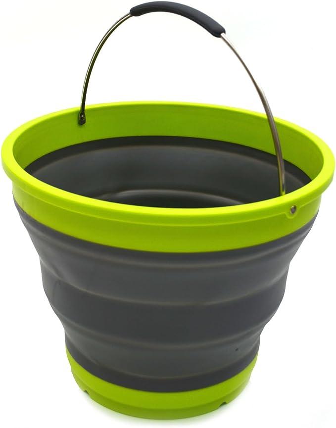 156 opinioni per Sammart 10L/2.6Gallon pieghevole secchio di plastica–pieghevole rotonda