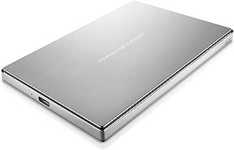 LaCie Porsche Design 1TB USB-C Mobile Hard Drive, Silver + 2mo Adobe CC Photography (STFD1000400)