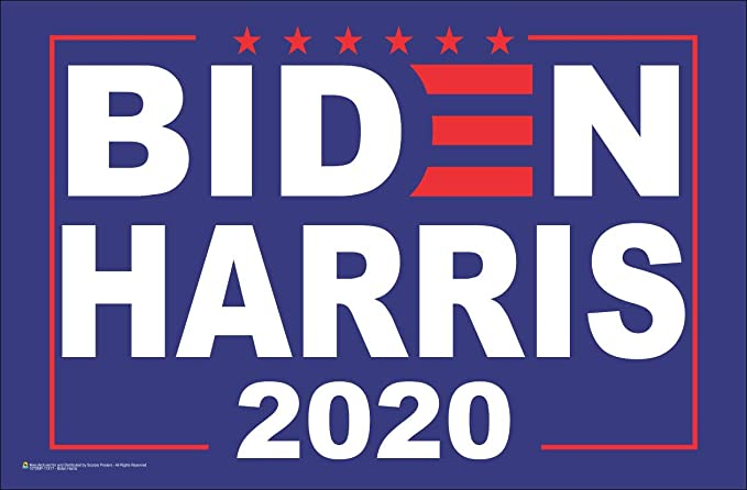 Joe Biden Kamala Harris 2020 President 2-Pack 11X17 Window Poster Campaign Rally Sign Red Blue 2020