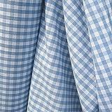 Stoff am Stück Stoff Baumwolle Bauernkaro hellblau weiß 1