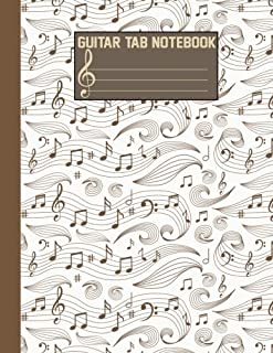 Guitar Tab Notebook: 108 Pages (Large Print) 8.5