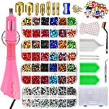 Hotfix Applicator EU Plug(Need Adapter), West Bay Hot Fix Rhinestone Applicator Wand Setter Tool Kit, Crystal AB, Clear&Colorful Stones with 7 Different Sizes Tips, Bedazzle Kit, Carry Box,Tool Kit