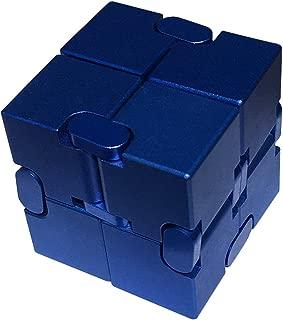 FAXADELLA InfiniteCube Luxury Fidget Finger Toy | Infinity Cube | Relief Stress & Anxiety | ADHD (Blue) Aluminum Alloy