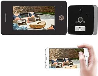 KKmoon Interphone Vidéo Sonnette de Porte, Visiophone avec Haute Définition Couleur LCD écran et Caméra de Surveillance Mo...