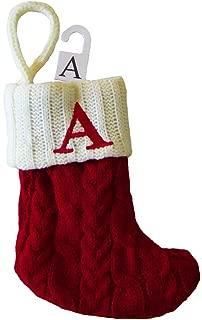 St. Nicholas Square Mini Cable Knit Stocking-Letter A, Mini 7