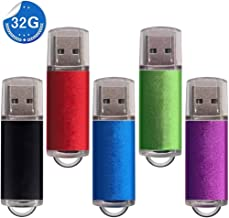 WGii Memoria USB 32GB 2.0 Pendrive USB Flash Drive Pen Stick [5 Unidades] Memoria Flash Drive (Negro, Azul, Verde, Rojo, Púrpura)