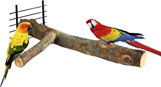 BWOGUE Bird Perch,Nature Wood Stand Toy Branch for Parrots Cages Toy