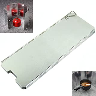 Foldable 8 Aluminum Plates BBQ Camping Stove Wind Shield Cookout Windbreak