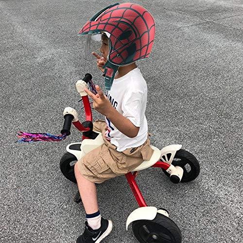 ZJRA Casco De La Motocicleta para Los Niños, Los Niños Casco De La Bici, Niño Casco De La Moto, Bicicletas, Motos, 48 ~ 52Cm, Red Telaraña Telaraña, Regalo con Los Guantes, Boy,Matte