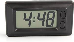 IDS Home Digital LCD Vehicle Car Clock with Calendar Display, Adhesive Dashboard Clock, Ultra-Thin