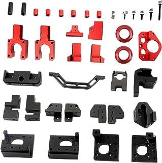 figatia Kit de moldura de impressora 3D usinada CNC, peças impressas de moldura, liga de alumínio preto e vermelho para Vo...