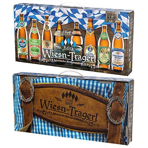 Kalea Wiesn-Tragerl | O'Zapft is | 8 x 0,5l Flaschen | Bayerische Fest-Bierspezialitäten | Geschenk-Karton mit Henkel
