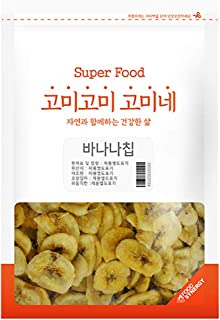 Gomine Banana Chips, 500g, Lightly Fried Banana Slice with Coconut Oil, Everyday Snack for Kids & Adults, Sweet and Crispy, 바나나칩
