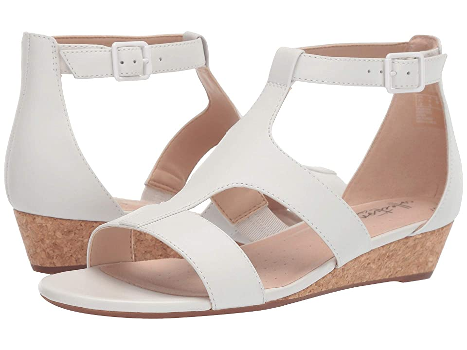 Clarks Abigail Lily (White Leather) Women