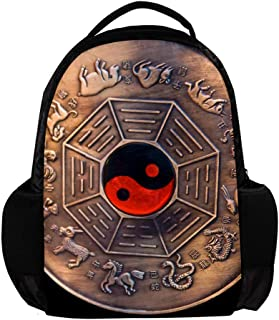 MAPOLO Lunar Calendar School Backpack Rucksack College Bookbag Travel Laptop Daypack Bag for Men Women
