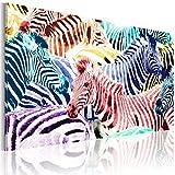 murando Cuadro en Lienzo 90x60 1 Parte Impresión en Material Tejido no Tejido Impresión Artística Imagen Gráfica Decoracion de Pared Abstracto Cebra Animales 020116-38