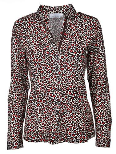 Just White Damen Bluse Größe 44 EU Rot (rot)